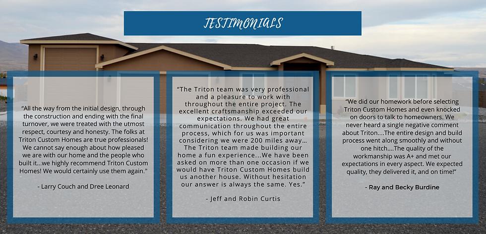 Triton Custom Home Testimonials