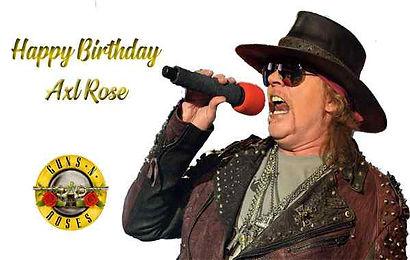 Axl Rose   Rock Star Birthdays   Classic Rock A to Z