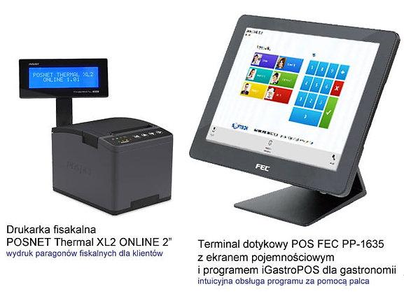 Gastro POS + terminal dotykowy + drukarka f