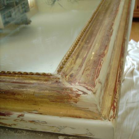 Mirror frame restoration