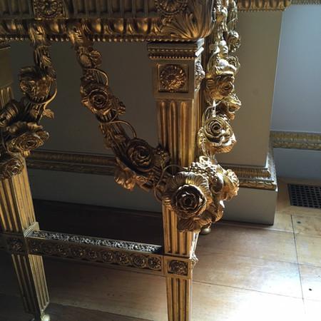 Gilded furniture restoration