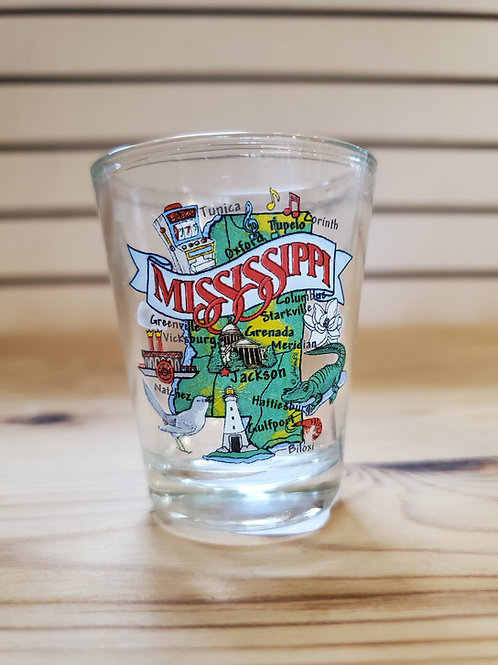 MS Map Shot Glass