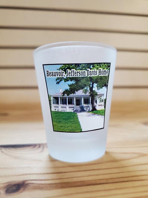 Frosted Beauvoir Shot Glass