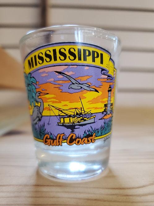 Shrimp Boat Sunset Shot Glass