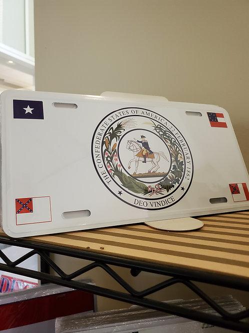 Confederate Seal Car Tag