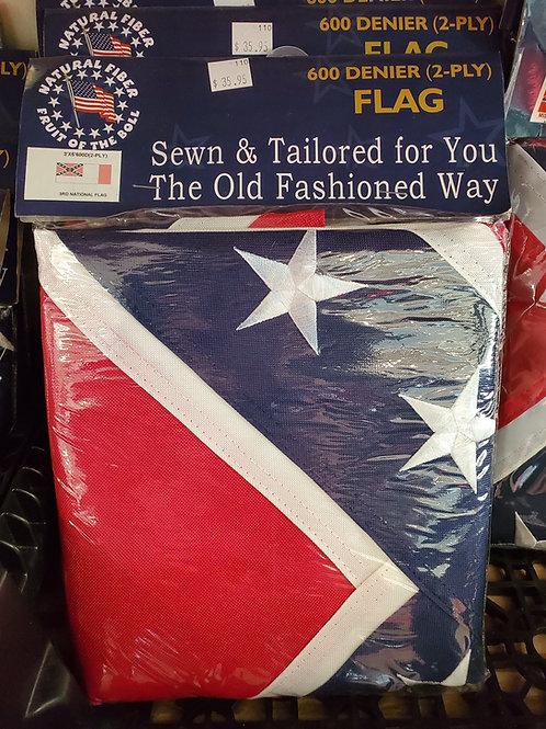 3x5 3rd Nat'l Confederate Flag 600-D