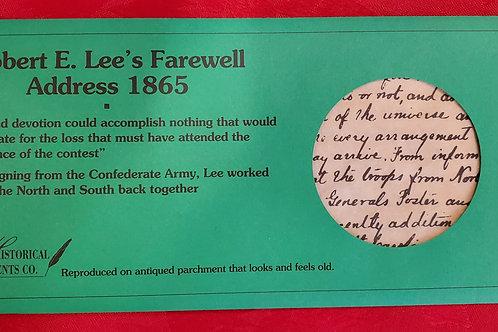 Robert E Lee's Farewell Address 1865