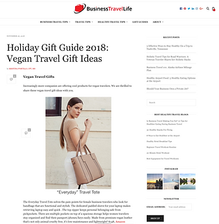 Holiday Gift Guide 2018  Vegan Travel Gi