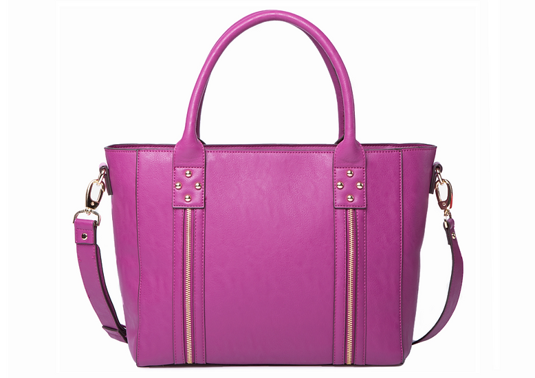 "14"" ""Everyday Bag"" Tote in Fuchsia"