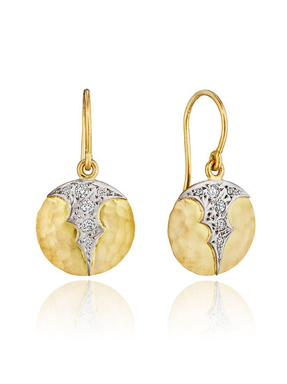 Scallop Disc Earrings