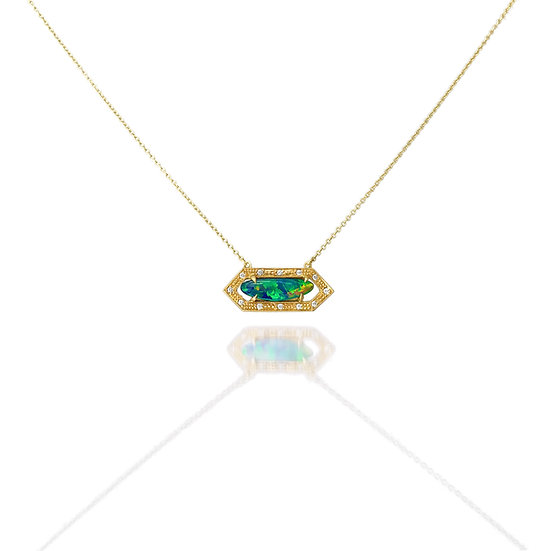 Opal Hex Necklace