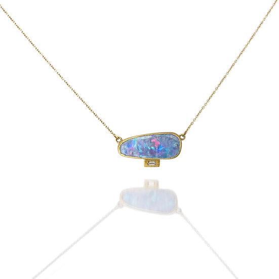 Opal Baguette Necklace