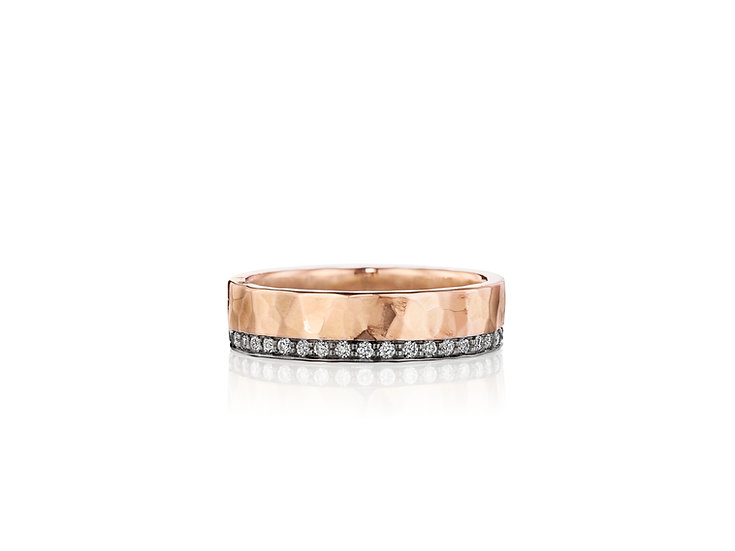 Two Tone Glitter Ring