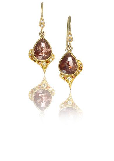 Copper Spade Earrings