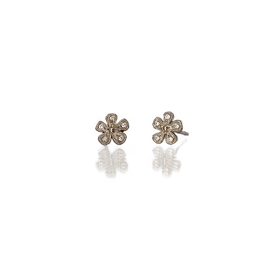Mini Flower Millgrain Studs