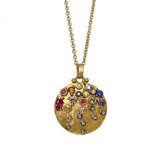 Confetti Disc Necklace