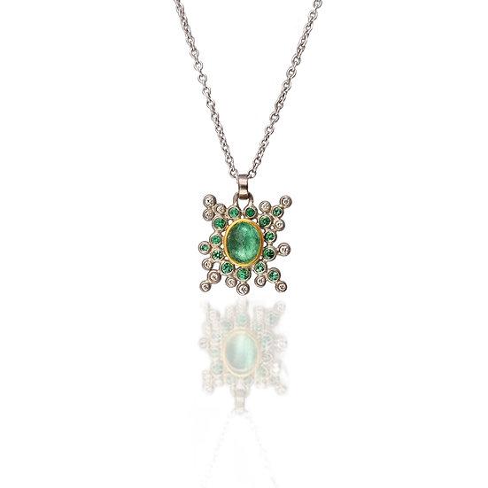 Emerald Burst Necklace
