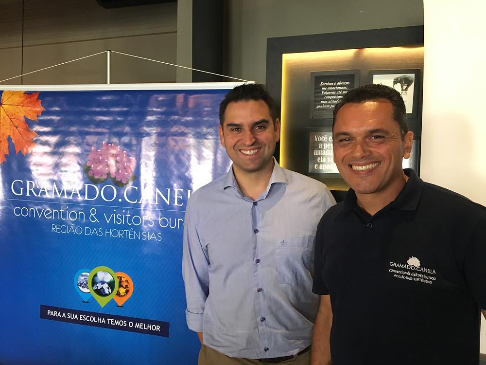 Enzo Arns e do Luciano Gonçalves, com credito de Lu Zanatta/Estrategiacom