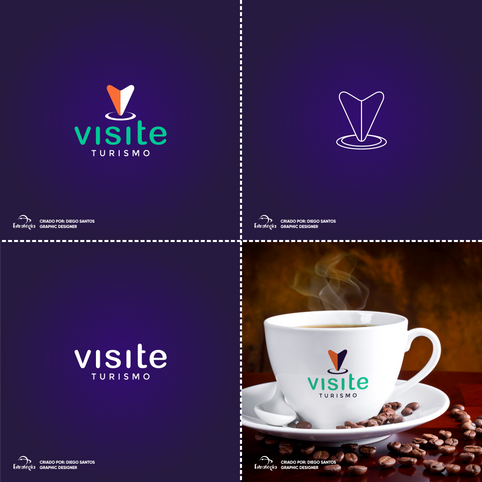 Visite Turismo | Design de identidade