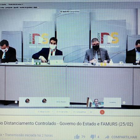 Prefeito Constantino Orsolin se manifesta em reunião com Governador do Estado Eduardo Leite