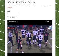 Video Quiz #6