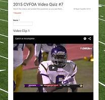 Video Quiz #7