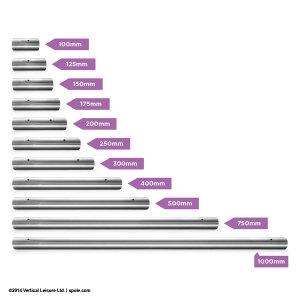 40mm & 45mm Extension (NE) - Stainless Steel - 400mm Length
