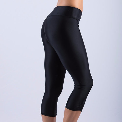 VEKKER - Black Scrunchy Bottom Crop Legging