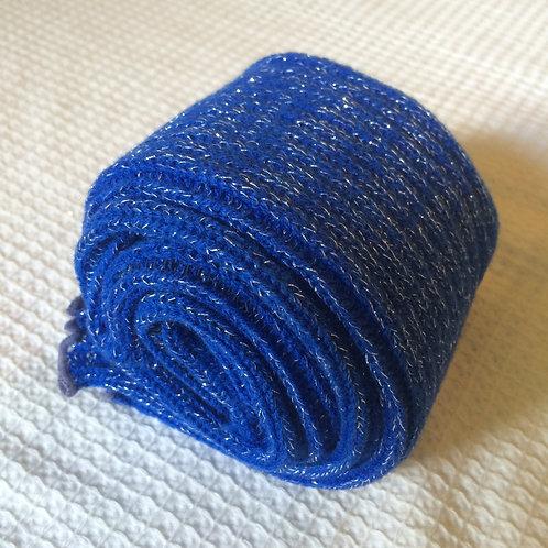 40cm Stirrup Leg Warmers -  Sparkly Royal Blue