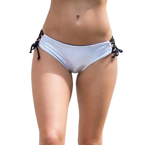 VEKKER - Hermosa Shorts in Silver Shimmer