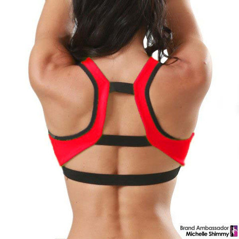 Bad Kitty Trinity Top Red & Black Back