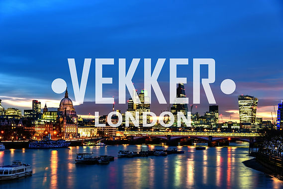 Vekker London - London Skyline with Vekker Logo