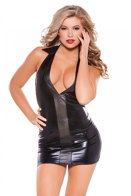 Kitten - Wetlook & Faux Leather Dress