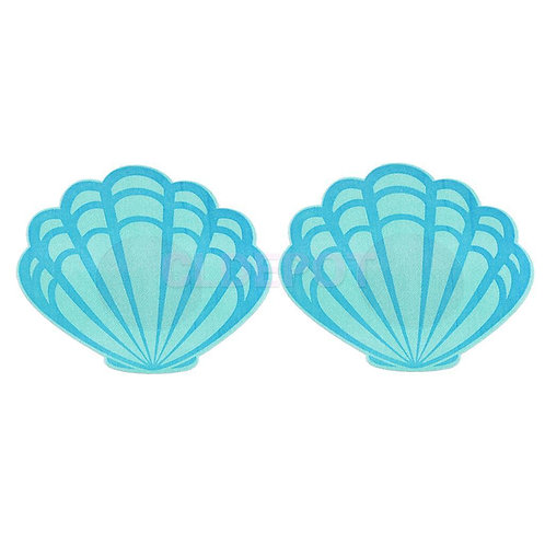 Mermaid Shell Nipple Pasties - 1 x Pair