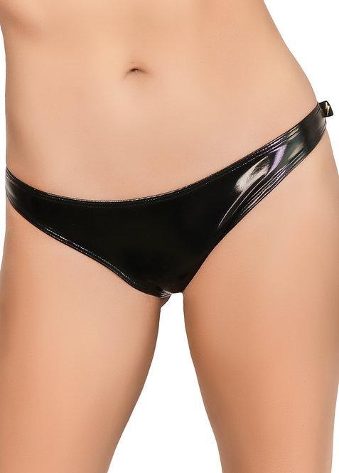 Cleo - Black Heroine Liquid Scanty Pants