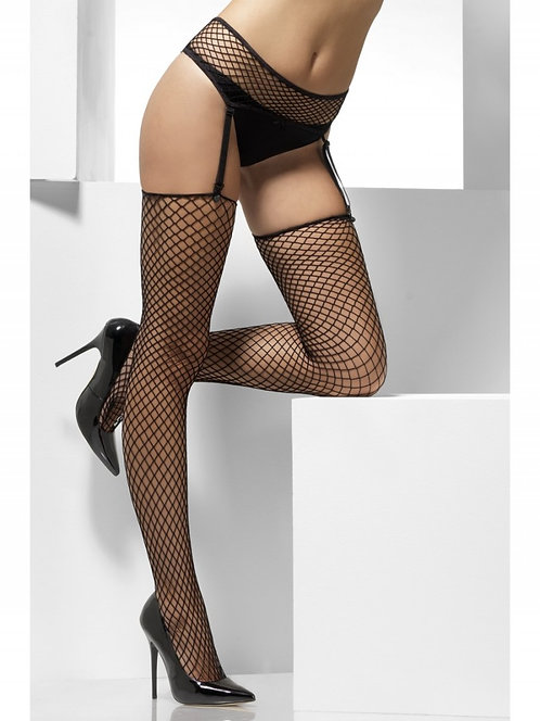 Fever - Lattice Net Hold Ups with Suspender Belt