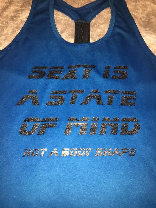 PSP - Blue Racer Back Vest - Sexy is a State of Mind, Not a Body Shape