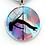 Thumbnail: PSP - Mosaic - Pole Dancer Heart Key Ring