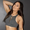 Thumbnail: Rarr - Charcoal Criss Cross Sports Bra