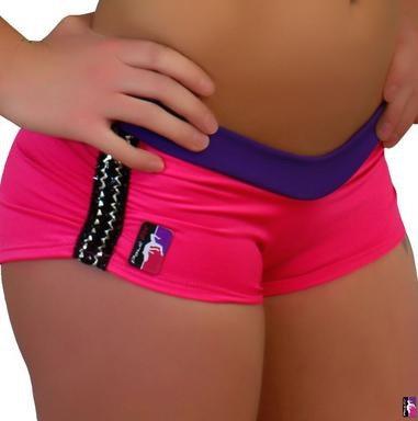 Bad Kitty Bondage Shorts Hot Pink