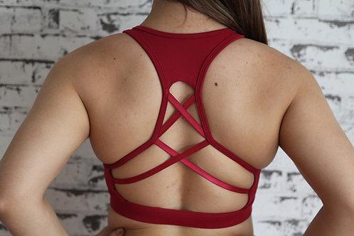 Rarr Designs Berry Studio Mesh Sports Bra Back Detail