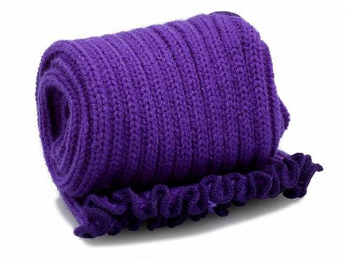 Extra Long 90cm Stirrup Leg Warmers - Purple