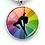 Thumbnail: PSP - Rainbow Overlay - Pole Dancer Heart Key Ring