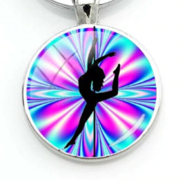 PSP - Kaleidoscope - Pole Dancer Heart Key Ring