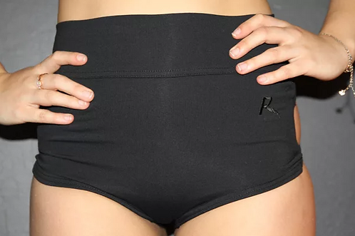Rarr - Black Criss Cross Highwaisted Booty Shorts - Scrunch Bum