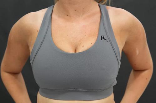 Rarr - Charcoal Fine Line Sports Bra