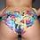 Thumbnail: Rarr - Metallic Rose Print Brazil Fit Scrunch Bum Shorts