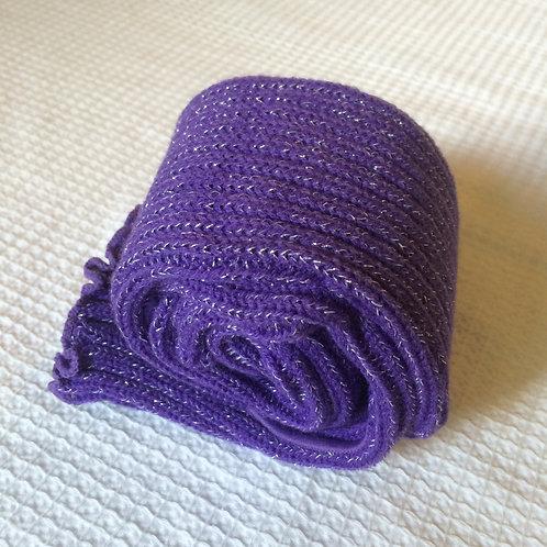 40cm Stirrup Leg Warmers -  Sparkly Purple