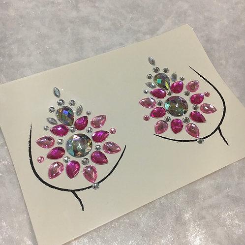 Nipple Pasyie Gems Design - Pink