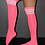 Thumbnail: Rarr - Rhinestone Knee High Football Socks Pink & White